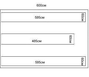комплект грядок для теплицы 3х6м